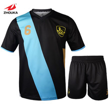 Zhouka Latest Design Football uniform breathable in high quality,Custom online