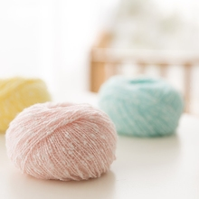 Hot 5 balls/lot 250g Beautiful Unique Cotton Acrylic yarn for knitting Colorful baby crochet yarn accessories Scarf thread,S2044(China)