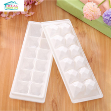 White Square Diamond Shape Ice Cube Tray Ice Cream Multi Freeze Moulds Kitchen Party Bar DIY Tools Refrigerator Necessary