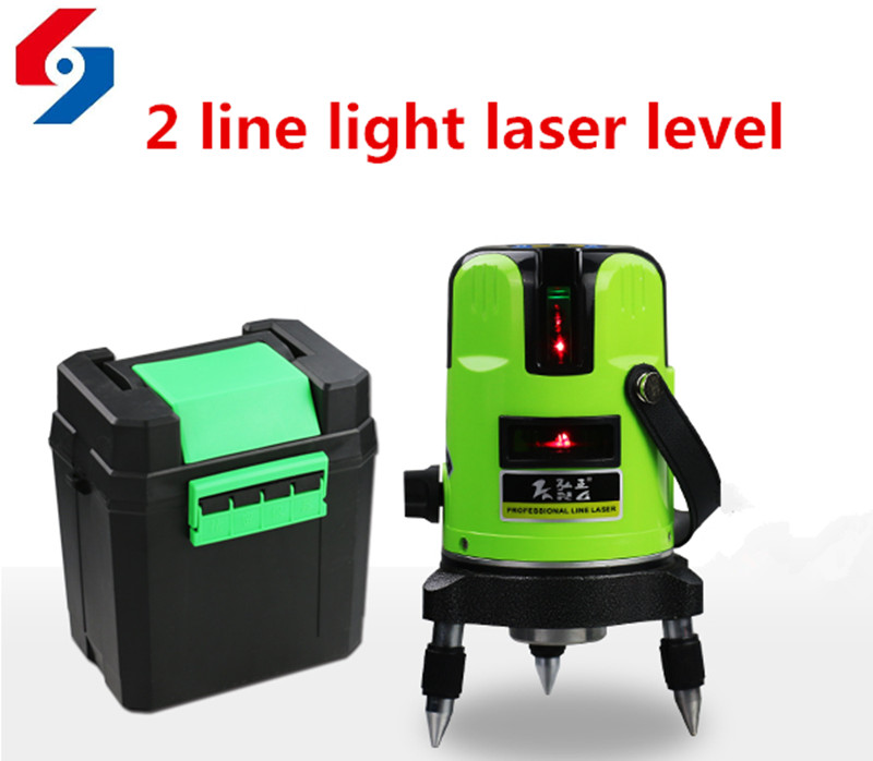 2 lines 2 points laser level 360 degree self- leveling Cross Laser line level Indoor outdoor furnished marking tool<br>