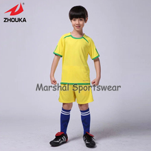 Newest kids soccer jersey,in stock item,100%polyester,high quality,wholesale price