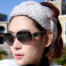 2017 HOT Freeshipping  Women's Thick Braided Crochet Twist Knit Ear Warmer Band Winter Head Wrap Hair Accessories 8 Colors