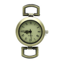 FUNIQUE Vintage Analog Watch Face Jewelry 2017 New 2Pcs Watches Face Round Bronze Tone DIY Women Men Watches 4.8cmx2.9cm