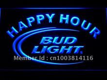601 Bud Light Happy Hour LED Neon Sign with On/Off Switch 7 Colors to choose