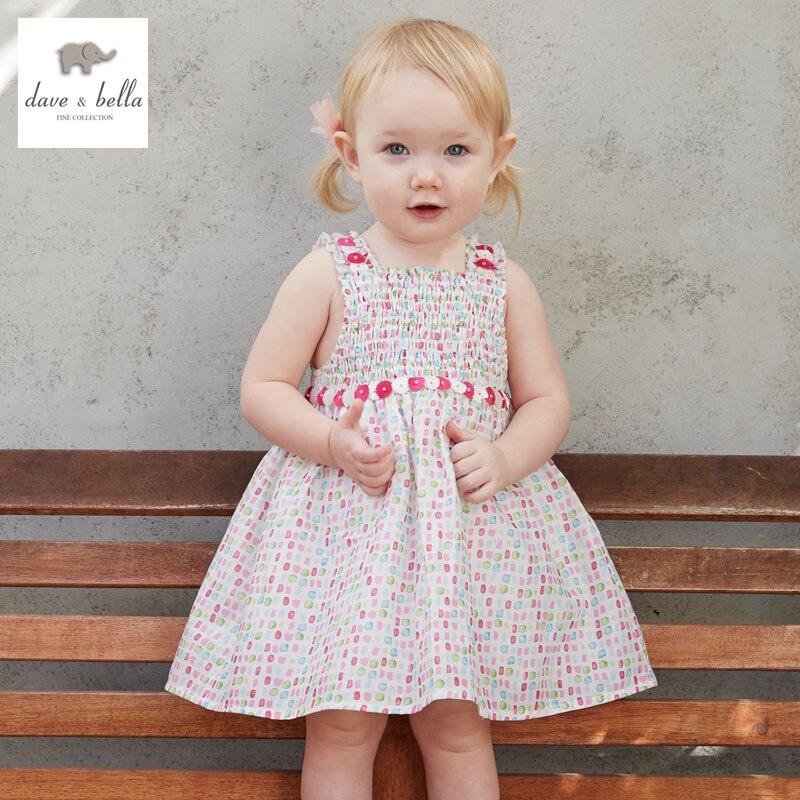 DB3294-A dave bella summer baby girl princess dress baby cute colorful dress kids birthday clothes dress<br>