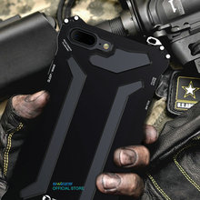 Shockproof IPX3 Waterproof 360 Protective Case Luxury Powerful Aluminum Metal Gorilla Glass Cover For iPhone 5 5s 6 6s 7 Plus