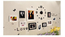 Wall paper EVA creative clock wall sticker  stereo clock The digital wall stickers The sitting room room decoration