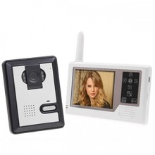 "One to Four Wireless Video Doorphone Intercom System 4pcs 3.5 "" Inch TFT Touch Monitors  1Pcs Outdoor IR Camera"