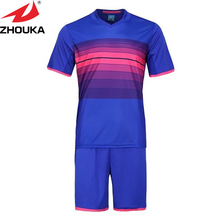 horizontal striped soccer wear,gradient color stripes club jerseys,DIY your team sportswear(China)