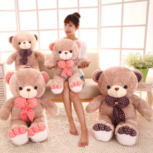 Hot selling Free shipping  65cm 75cm 85cm Plush toys Large Teddy Bear skin Plush Doll big bear doll gift activity tie
