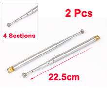 UXCELL Product Name 2Pcs 22.5Cm Long 4 Sections Telescopic Antenna Aerial Mast For Rc Radio Controller antenna | telescopic(China)