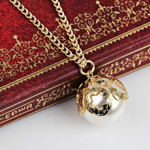 2017 new Fashion  single simulated pearl necklaces for women summer  jewelry hot sale korean version elegant gifts