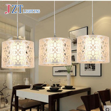 T LED Creative Pendant Lights for Bar coffee shop Simple Silver Acrylic lamps for The corridor 15W 3 lights best price!!