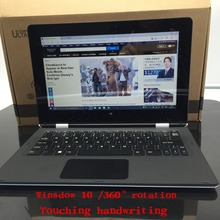 11.6 inch laptop 4GB+64GB Atom X5-Z8300 Touching Handwriting Windows10 360 Degrees PC Notebook tablet Quad-core TF Card netbook