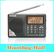 Original Tecsun PL606 PL-606 FM Stereo Portable Radio long wave short wave LW/MW/SW DSP Synchronous receiver digital full-band