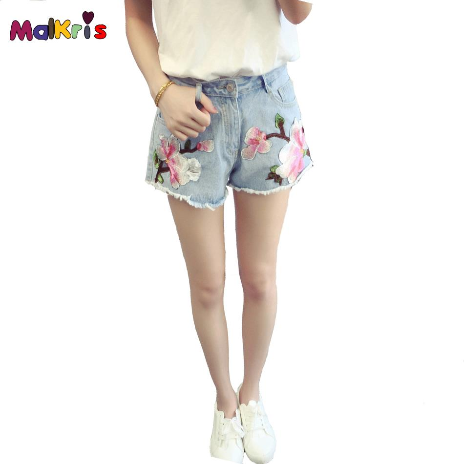 MALKRIS 2017 Summer Jeans Slim Embroidered Jeans Skinny Jeans Women Morality Joker Denim Jeans Embroidery Women ShortsОдежда и ак�е��уары<br><br><br>Aliexpress