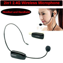 Free Shipping!Black Portable 2.4G Mini Wireless Microphone Headset MIC & 3.5mm Plug Receiver(China)