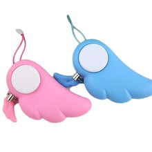 Useful Angel Wings Woman Anti Wolf For Self-defense Electronic Alarm Mobile Phone Bag Lady Lovely Pendant keychain 2017 new