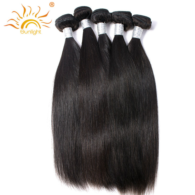 Malaysian Straight Hair Weft 100g/pc 100% Human Hair Bundles Remy Hair Weave Weaving Can Be Dyed Sunlight Human Hair Company