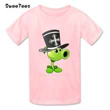 Plants Vs Zombies Boys Girls T Shirt Cotton Short Sleeve Crew Neck Tshirt children's Costume 2017 Best Selling T-shirt For Kids(China)