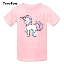 Unicorn Children T Shirt Cotton Short Sleeve Round Neck Tshirt Costume Boys Girls 2017 New Tops Funny Picture T-shirt For Baby