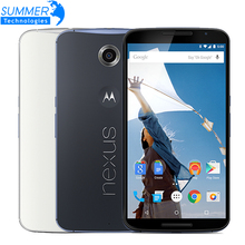 "Original Motorola Google Nexus 6 XT1103/XT1100 Mobile Phone Quad Core 3GB RAM 32/64GB ROM 5.96"" 4G LTE Dual SIM Smartphone(China)"