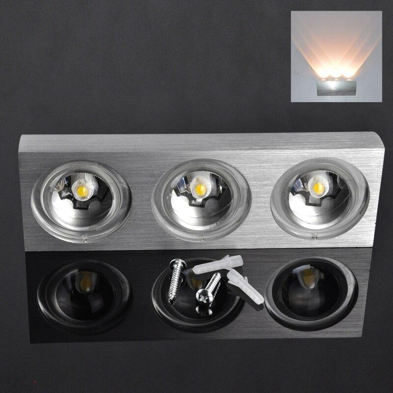 LED Wall Lamps 3LEDs 3W AC85-260V Modern Waterproof Anti-fog Bathroom Mirror Wall Lamps Luminaire Aluminum<br>
