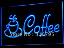 i433 Coffee Cup Shop Cappuccino Cafe LED Neon Light Sign On/Off Switch 7 Colors