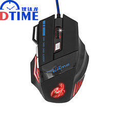 DTIME Brand Pc x7 USB Laptop Computer PC 3200 DPI gaming air mouse for Dota2 optical mouse gamers mause sem fio car laptop raton