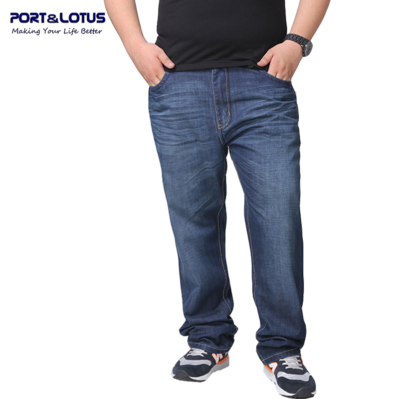 Port&amp;Lotus Fashion Casual Jeans With Zipper Fly Solid Color Midweight Straight Pants Large Size Jeans Men 059 wholesaleОдежда и ак�е��уары<br><br><br>Aliexpress