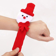 1pc Christmas Patting Circle Bracelet Watch Xmas Children Gift Santa Claus Snowman Deer New Year Party Toy Wrist Decoration 0014