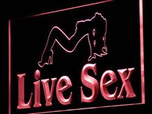 j135 Live Sex Sexy Girl Dancer XXX LED Neon Light Sign Wholeselling Dropshipper On/ Off Switch 7 colors DHL