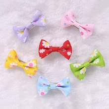 Best Selling 5Pcs/Lot Lovely Pet Hair Clips Cute Dog Bow Hairpin Headdress Printed Pet Puppy Grooming Tools Supplies