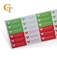 New! Wholesale 300pcs/lot Seal Sticker, 'just for you with love' Sticker, clear gift seal stickers wedding