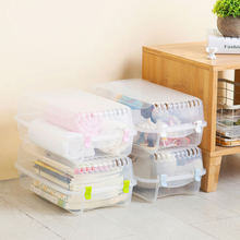 LASPERAL 1PC Shoes Storage Box Plastic Clear Shoe Box For Home Clothes Zakka Organizer Shoes Storage Container 36.7*21.5*13cm