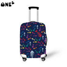2016 ONE2 Design fish pattern cover apply to 22,24,26 inch protective custom wholesale brand names cheap trolley luggage cover