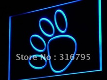 j087 Paw Print Dog Cat Pet Shop Decor LED Light Sign Wholeselling Dropshipper On/ Off Switch 7 colors DHL