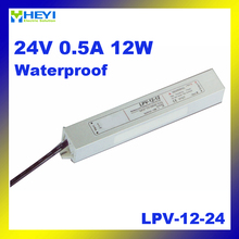 LED waterproof series LPV-12-24 0.5A 24V 12W mini switch power supply(China)