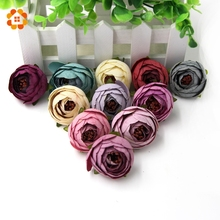 5pcs DIY Artificial Flower Flower Garland Craft Fake Flower Artificial Flower Head Wedding Decoration Wreaths Multicolor(China)