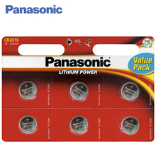 Panasonic CR-2016EL/6BP Batteries 1 bl/6 ps Lithium Power 3V Used in watches, dictaphones, children's toys, flashlights