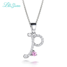"I&Zuan ""P"" Charm party 925 Sterling Silver Fine Jewelry trendy letter Necklace For Women Gemstones Pendant Choker Necklace(China)"