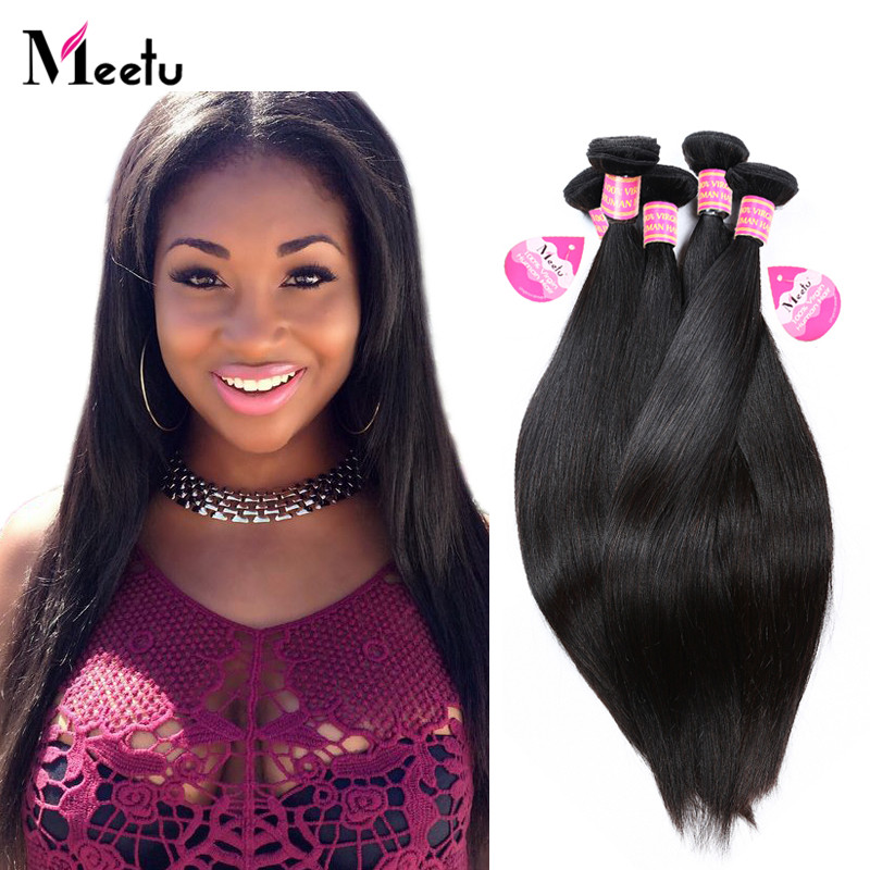 2Bundles Deal Brazilian Straight Virgin Human Hair 8A Grade Unprocessed Straight Virgin Hair Weave Bundles 100% Natural Color<br><br>Aliexpress