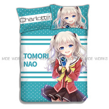 Charlotte Tomori Nao Japanese  Anime Bed Sheets print fabric Manufacturers in China Hot Sell