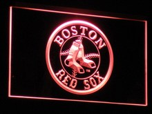 b113 Boston Red Sox Baseball Bar LED Neon Sign with On/Off Switch 7 Colors to choose