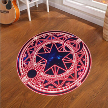 60-120CM Round Kids Bedroom Carpet Cartoon Pink Sakura Magic Circle Children Play Mats Computer Chair Hanging Basket Puzzle Rugs(China)