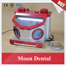 AX-B5 Dental Sand Blasting Unit Equipment with Built-in Dust Drawer and LED Lighting Tube for Polishing Denture & Jewelry