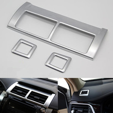 YAQUICKA 3Pcs Car Interior Dashboard Air Conditioner Outlet Vent Frame Trim Cover Styling For Toyota Camry 2015 Car-covers ABS(China)