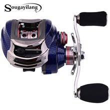 Sougayilang Bait Casting Reel LK100 9+1BB 220g Water Drop Wheel Left/Right Hand Magnetic Brake System Coil Wheel Trolling Reel