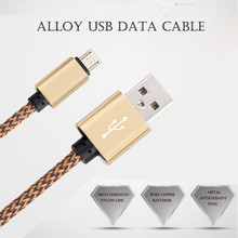 XEDAIN Brand Nylon Micro USB Cable for Samsung HTC LG SONY Huawei Android 1m 2m Fast Charge Wire Micro Usb Mini USB Phone Cables