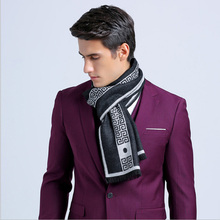 Brand Scarf luxury designer Men Classic Business Warm Cashmere Scarf  Soft Tassel ethnic Shawl Wrap Winter scarf men scarves